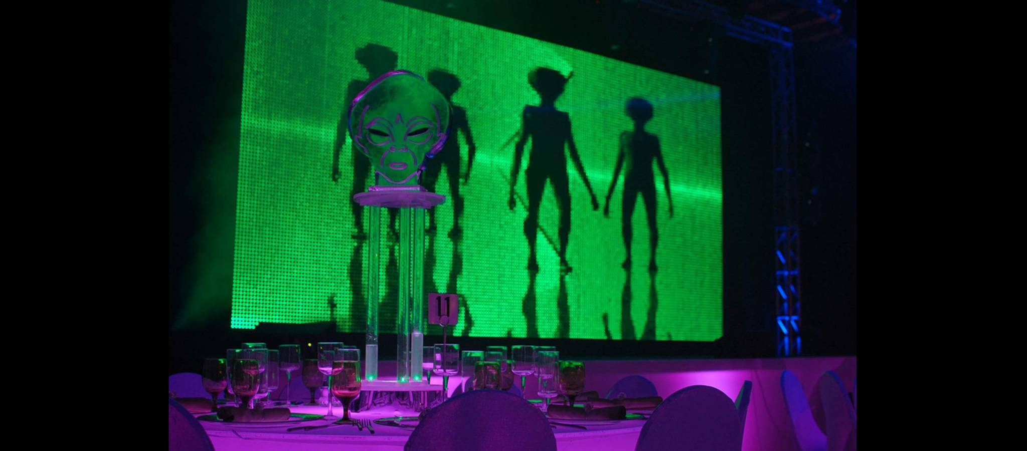 Alien Invasion Glow Party