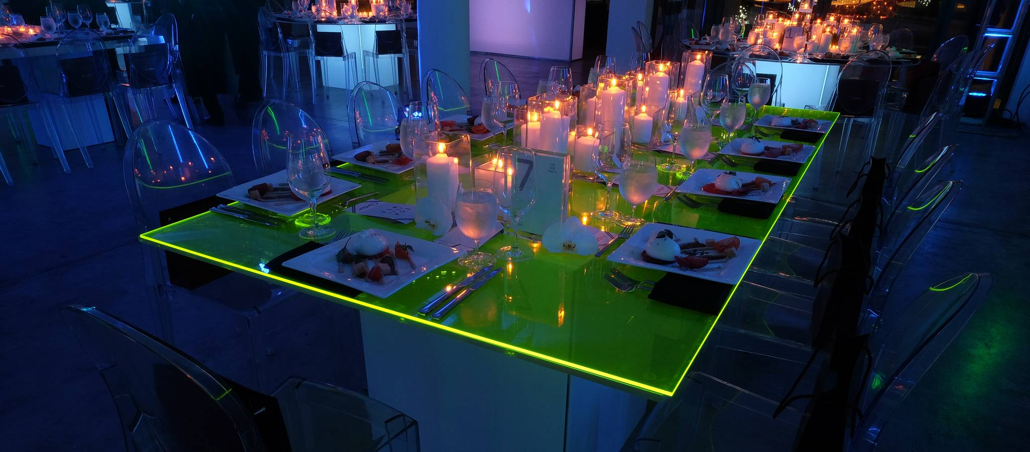 Neon Corporate Dinner Party