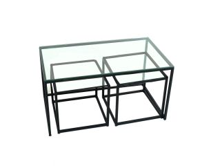 Nesting Table w/ Glass End Tables