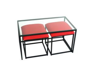 Nesting Table w/ Red Seats