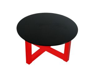 Cross Black on Red Coffee Table