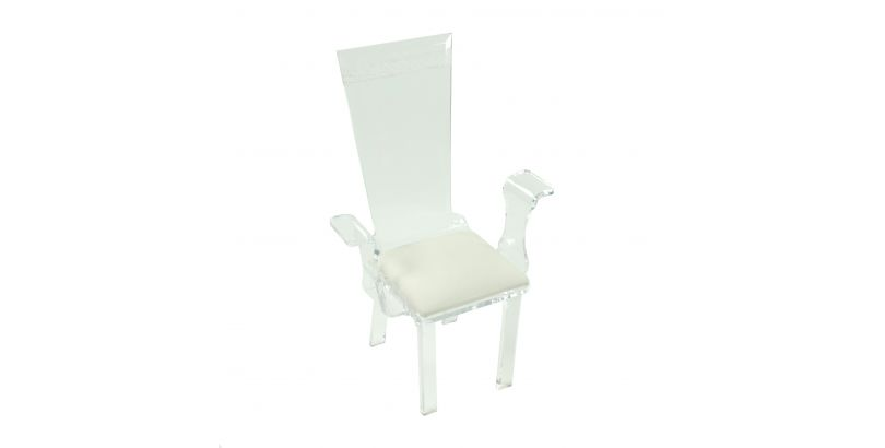 Straight Back Clear Acrylic Arm Chair | So Cool Events