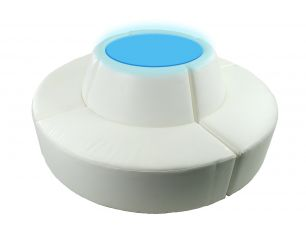 Aventura White Circular Lighted