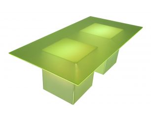 Royal Pedestal Table Neon Top Lighted