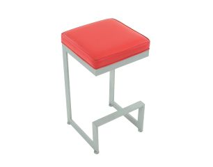 Square Barstool Red